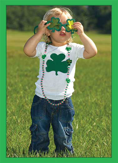 Green Glasses Funny St. Patrick's Day Card